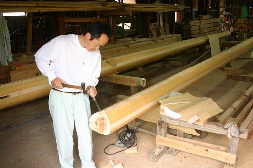 木材加工の様子
