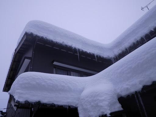 雪が積もった住宅